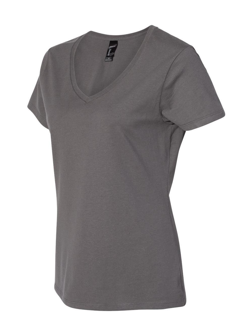 Hanes-Nano-T-Women-039-s-V-Neck-T-Shirt-S04V thumbnail 17