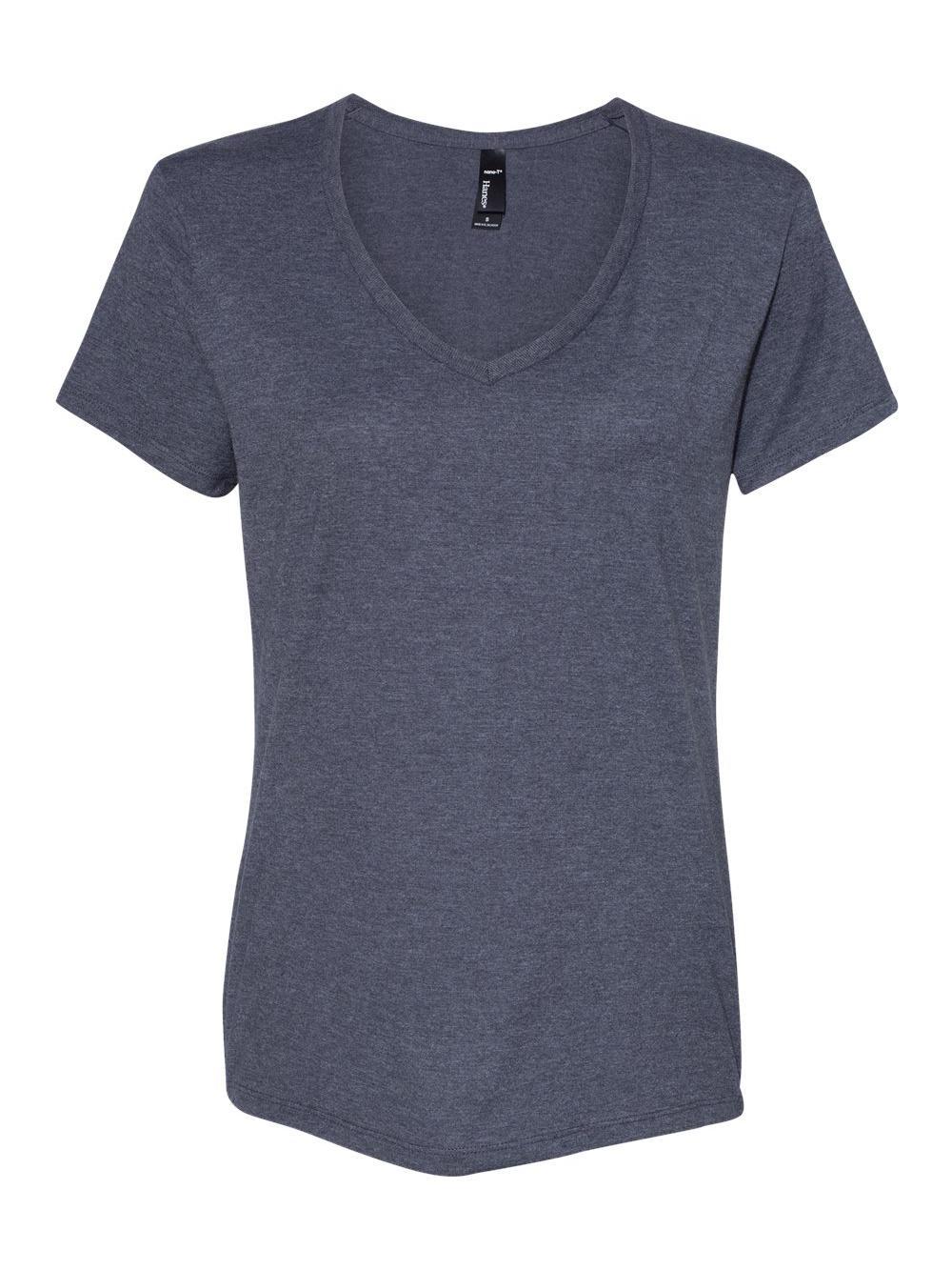 Hanes-Nano-T-Women-039-s-V-Neck-T-Shirt-S04V thumbnail 12