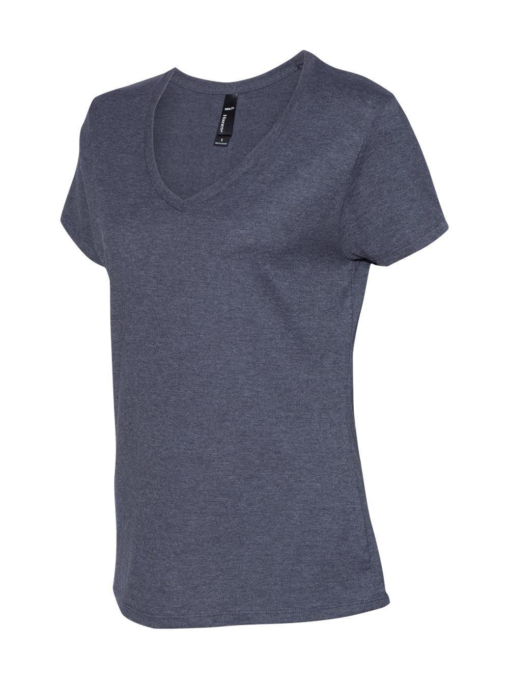 Hanes-Nano-T-Women-039-s-V-Neck-T-Shirt-S04V thumbnail 11
