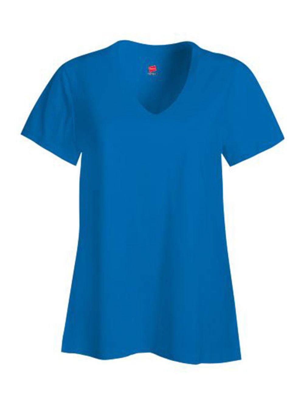 Hanes-Nano-T-Women-039-s-V-Neck-T-Shirt-S04V thumbnail 9