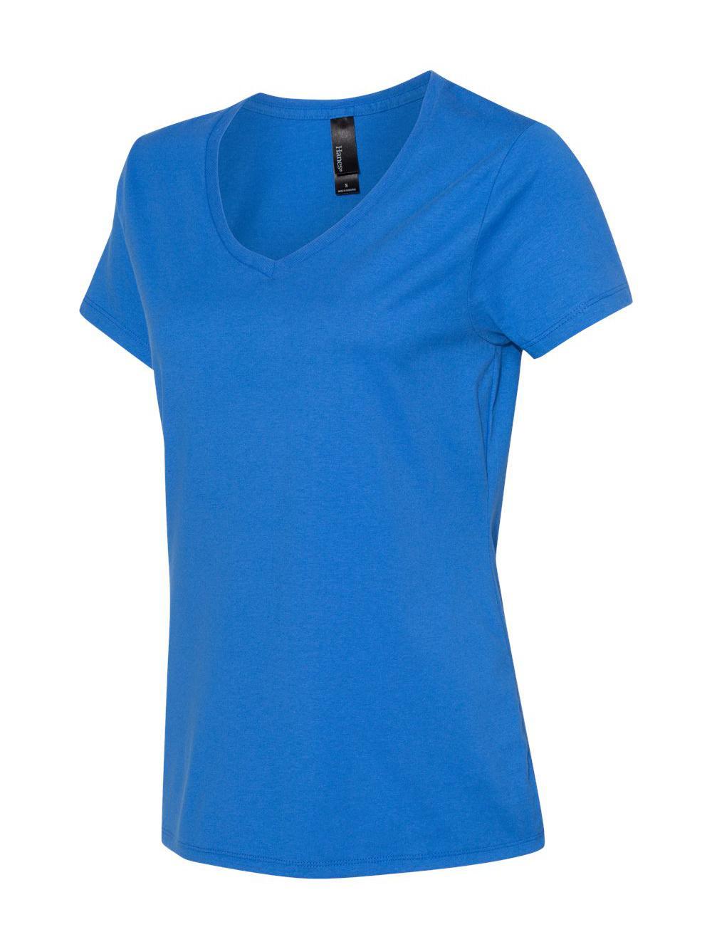 Hanes-Nano-T-Women-039-s-V-Neck-T-Shirt-S04V thumbnail 8
