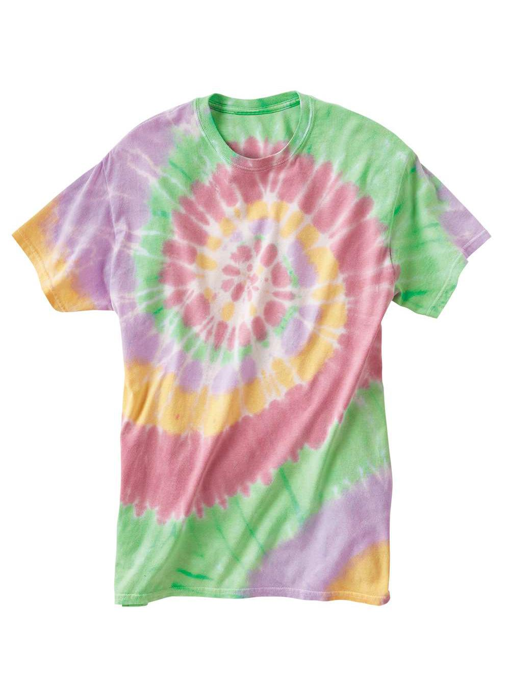 Dyenomite-Multi-Color-Spiral-Short-Sleeve-T-Shirt-200MS thumbnail 38
