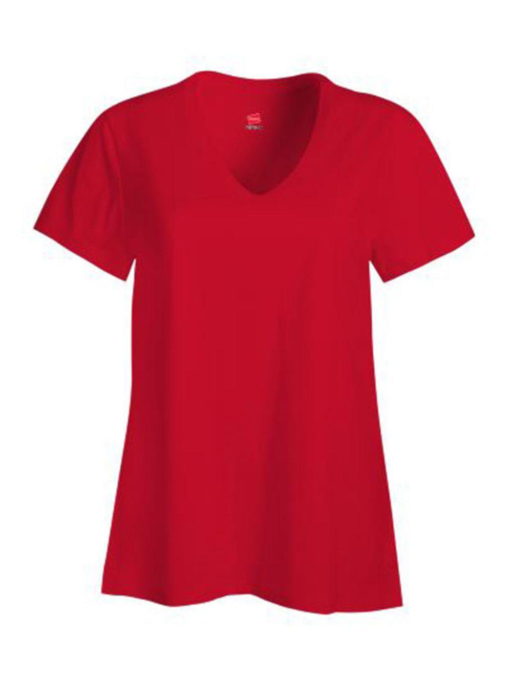 Hanes-Nano-T-Women-039-s-V-Neck-T-Shirt-S04V thumbnail 3