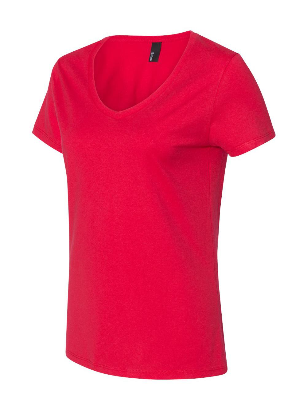 Hanes-Nano-T-Women-039-s-V-Neck-T-Shirt-S04V thumbnail 2