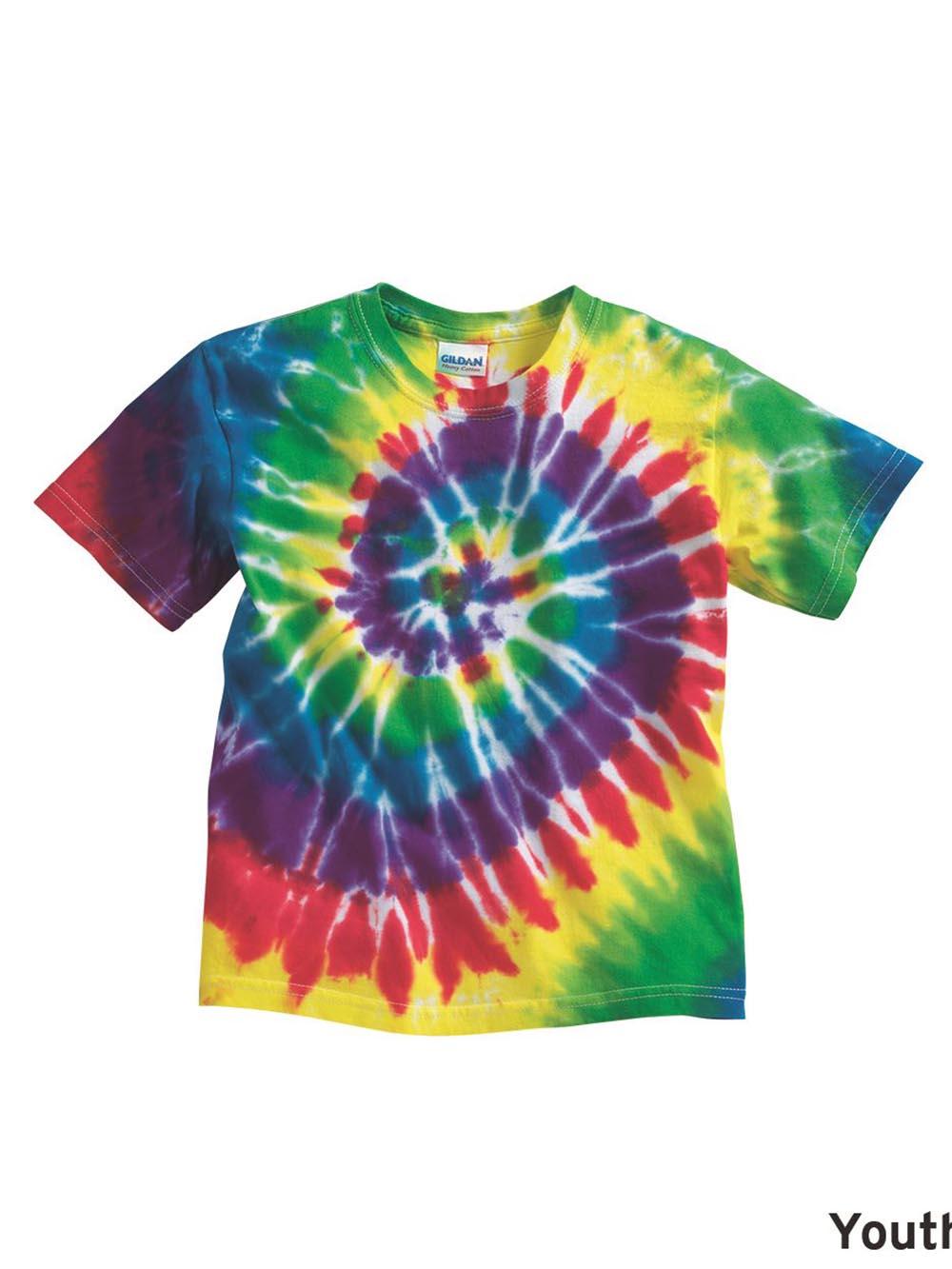 1fa7b20ea Dyenomite - Youth Multi-Color Spiral T-Shirt - 20BMS   eBay