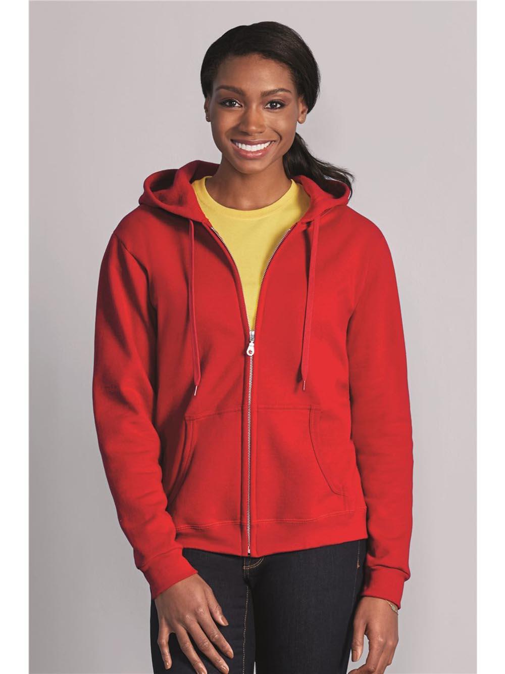 Womens Hoodie S M L XL 2XL Ladies Full Zip Gildan Heavy Blend Hooded Sweatshirt
