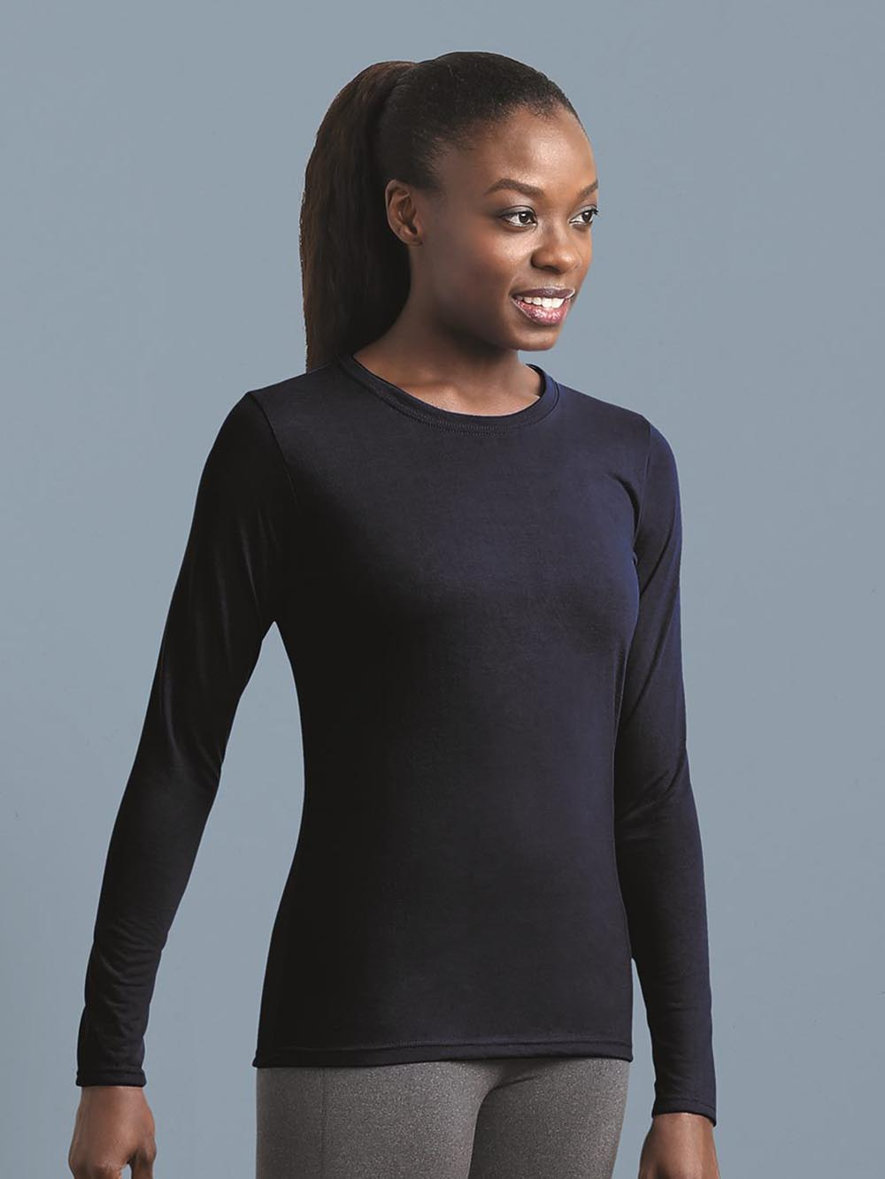 Gildan Performance Women/'s Long Sleeve T-Shirt 42400L