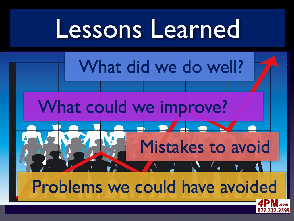 Lessons learned project management maxwellsz