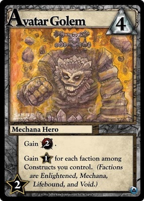 Ascension Avatar Golem Card