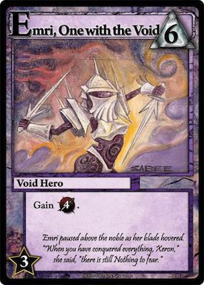 Ascension Emri, One with the void card