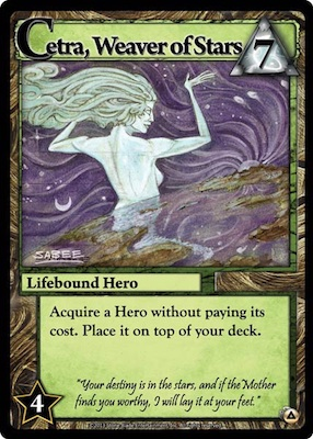 Ascension Cetra, Weaver of Stars Card