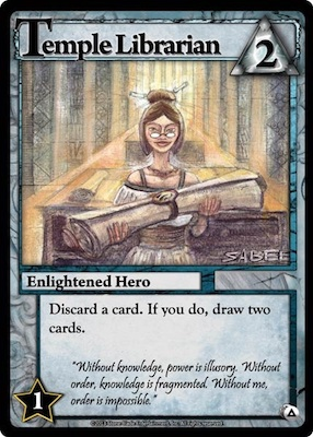Ascension Temple Librarian Card