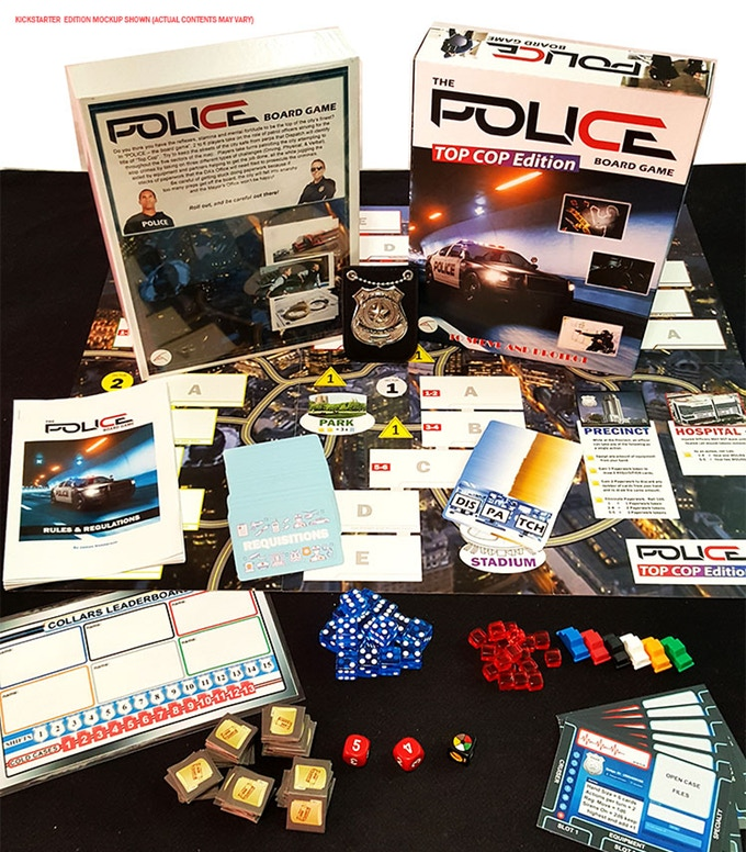 Police Board Game Top Cop