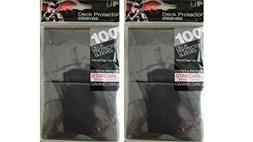 Ultra Pro (200) Black Deck Protector Sleeves 2-Packs