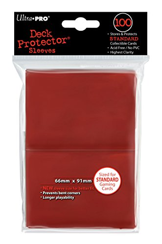 Deck Protector, Standard, Red, 100 Count