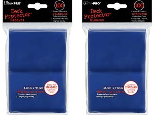 200 Blue Deck Protector Sleeves 2-Packs - Standard Size