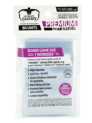 Premium Game Sleeves 7 Wonders (80) Cards