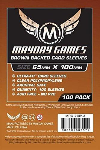 Brown Back, 7 Wonders Sleeves (65x100mm)-100 Standard