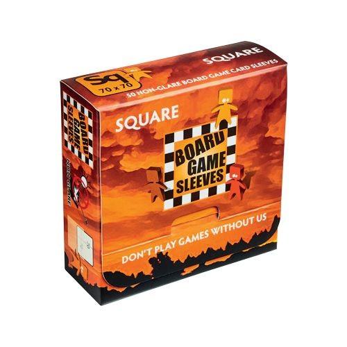 Board Game Non-Glare Sleeves: Square