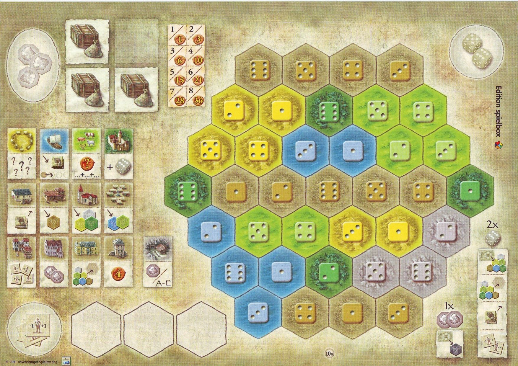The Castles of Burgundy: 1st Expansion – New Player Boards
