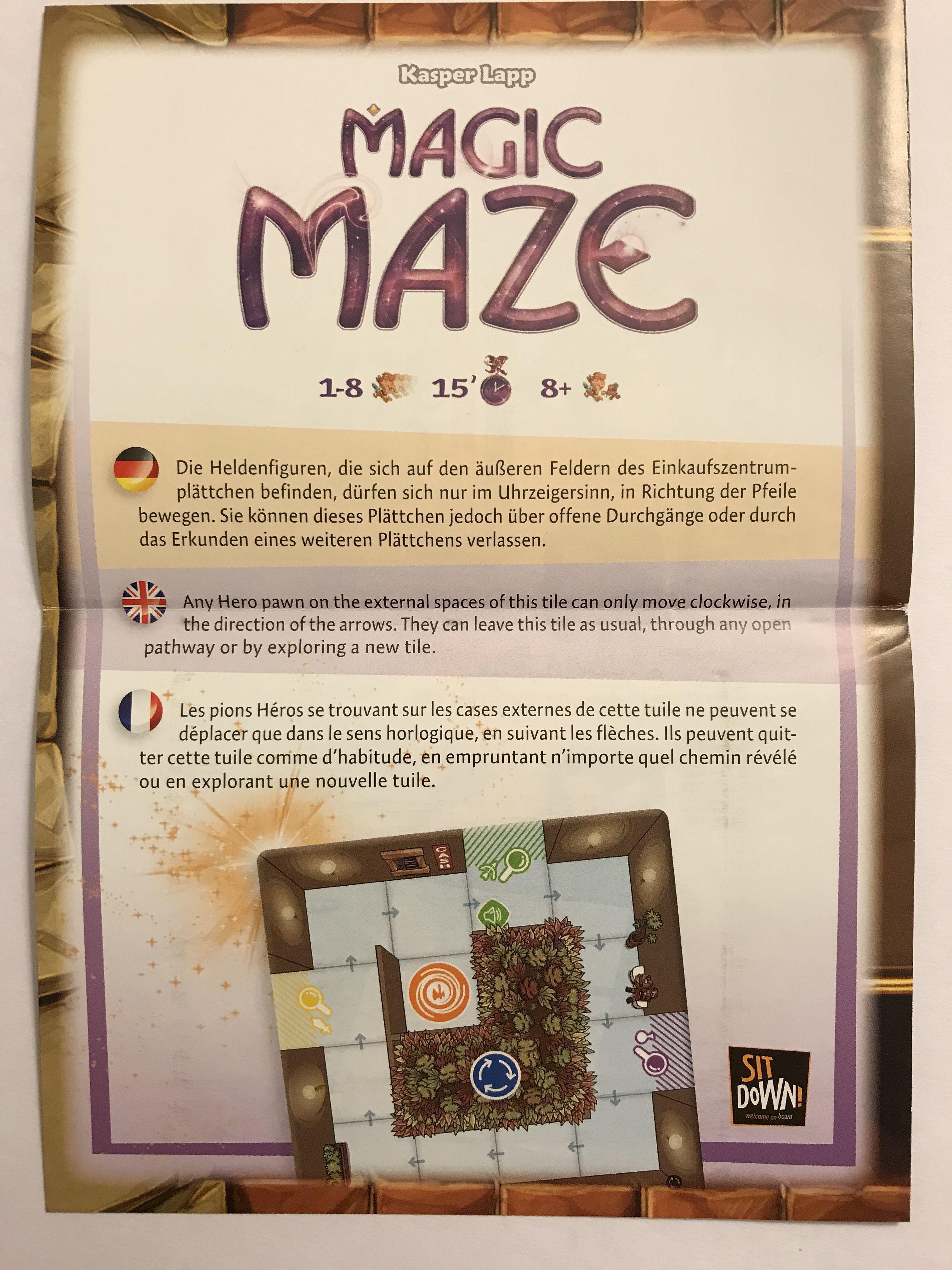 Magic Maze: Brettspiel Adventskalender 2017 Promo