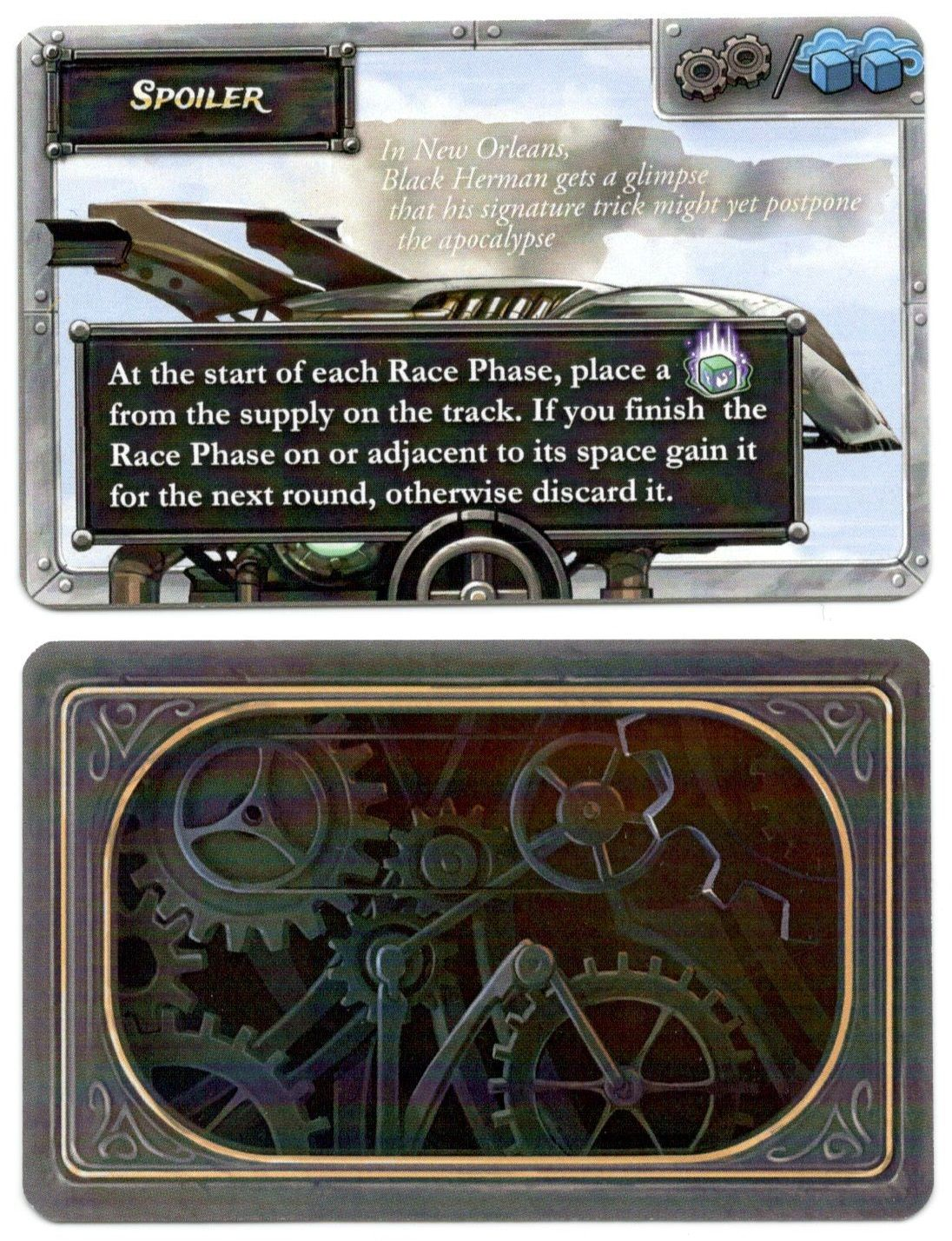 Steampunk Rally: Spoiler