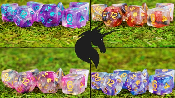 Year of the Unicorn RPG Polyhedral Dice Sets