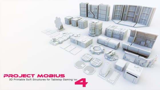 3D Printable Scifi Structures for Tabletop Gaming Vol 4