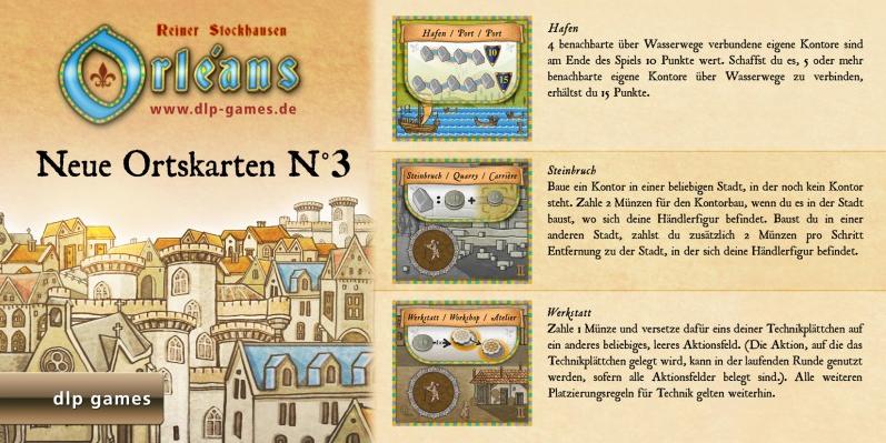 Orléans: Neue Ortskarten N°3