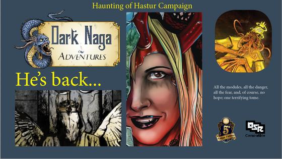 Dark Naga - Haunting of Hastur - Hardback - 5e and OSR