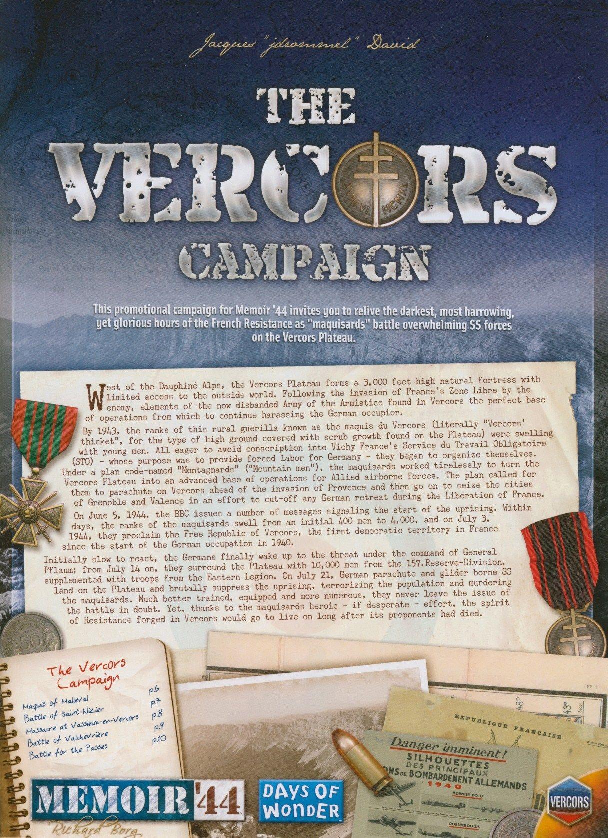 Memoir '44: The Vercors Campaign