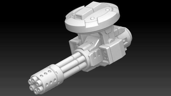 Sci-Fi Tank Sponson Turrets