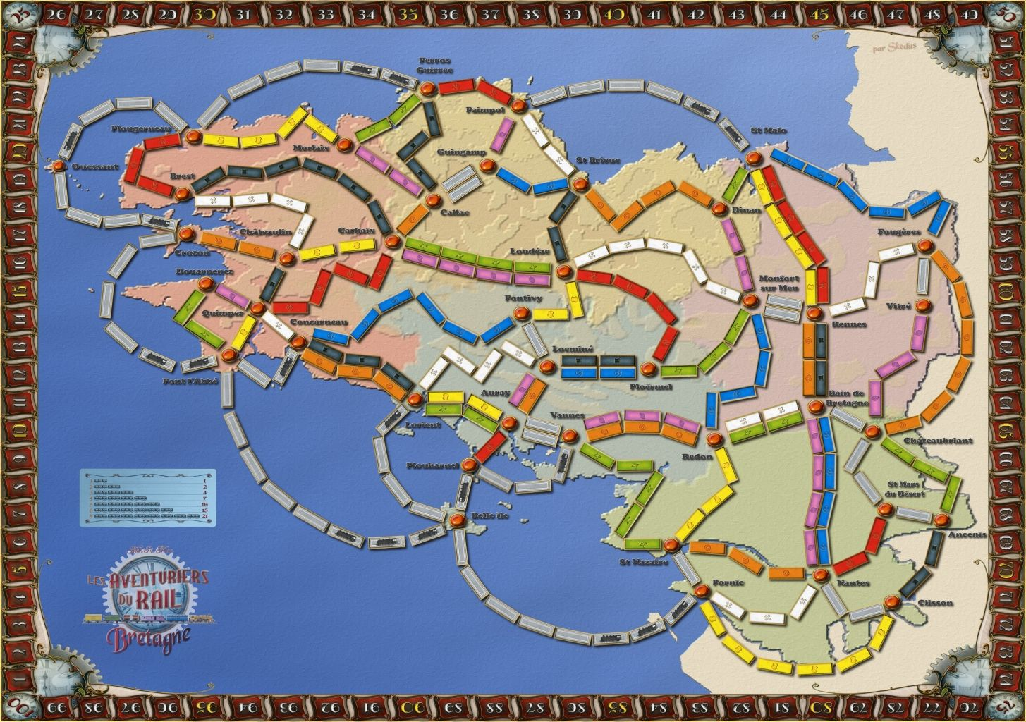 Bretagne (fan expansion for Ticket to Ride)