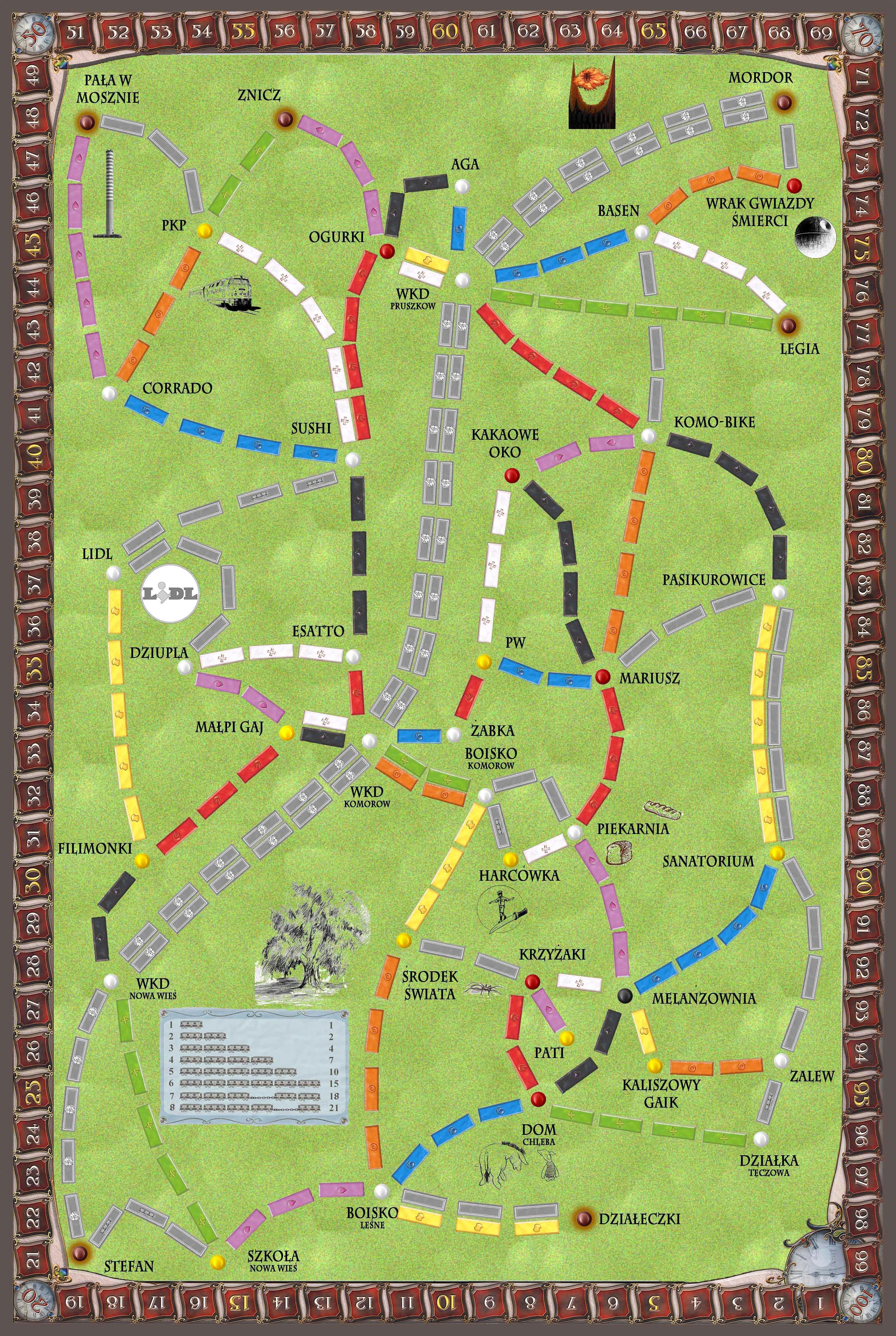 Komorów (fan expansion to Ticket to Ride)