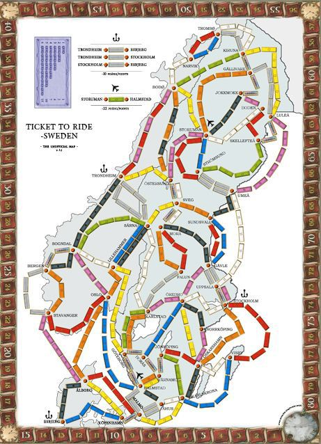 Sweden (fan expansion for Ticket to Ride)