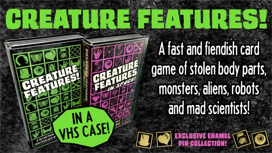 Creature Features! A retro themed horror card game.