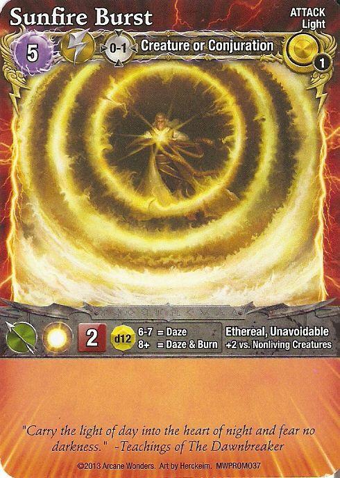 Mage Wars: Sunfire Burst Promo Card
