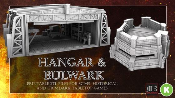 Hangar and Bulwark - Wargaming & Skirmish Printable Terrain