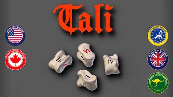 Tali - Roman Knucklebones, Metal Coins, and 2 Games in One