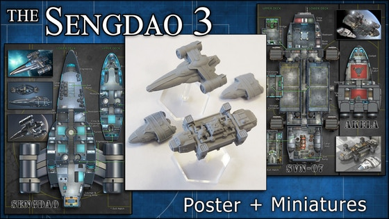 Sengdao 3: Starship Miniatures & Maps