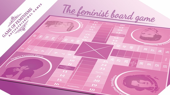 Game Of Feminisms - Antipatriarchal Board Game / Parchis