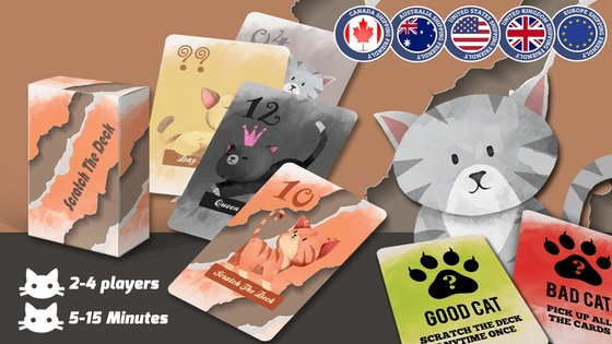 Scratch The Deck: A cool card game for people who love Cats!