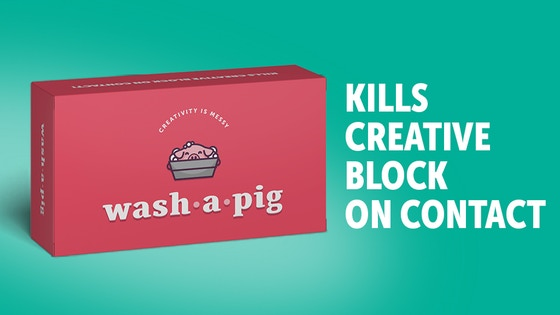 Wash-a-Pig: a playful way to practice creative thinking