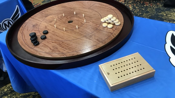 Mayday 2019 Crokinole Board 2-4 Player: Maple or Rosewood!