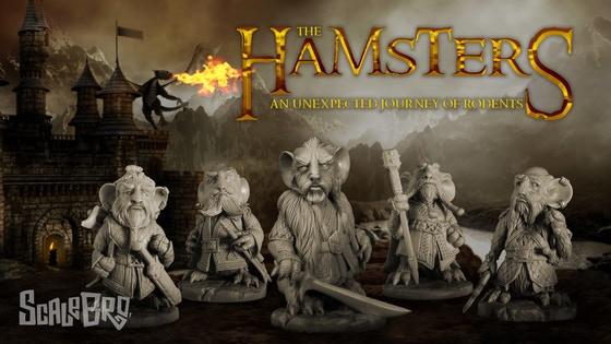 The Hamsters Journey 40 mm by Cartoon Miniatures (ScaleBro)