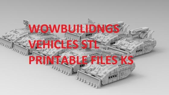 WOWBuildings Sci Fi Vehicle Expansion 3D STL Files