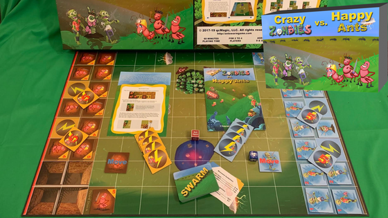 Crazy Zombies vs. Happy Ants Board Game
