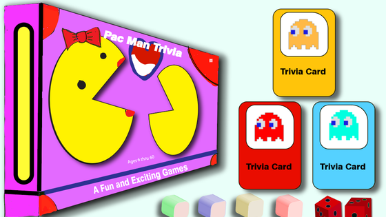 PacMan Trivia Board Game for All Ages! Have Fun and Learn!