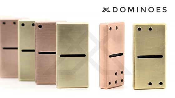 Dominoes - Brass or Copper