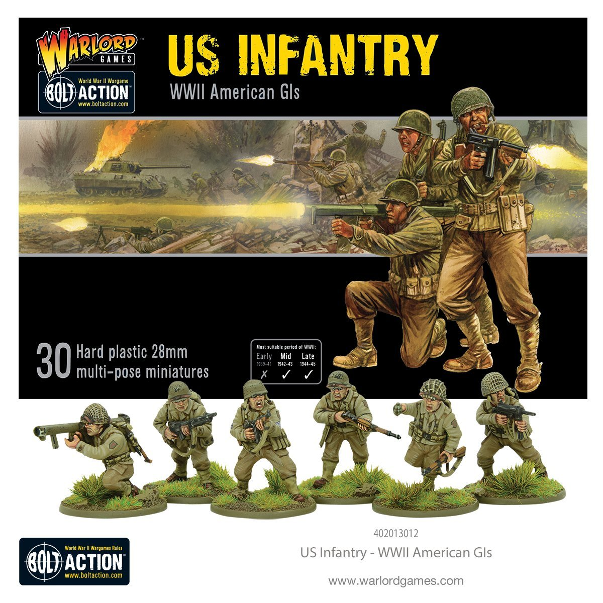 Warlord Games Bolt Action US Infantry (WWII American GIs)